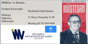 """Sayın Ertuğrul Kumcuoğlu ile """"Mülkiye ve Sonrası"""" söyleşisi"""